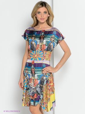 Платье ZAYKINS. Цвет: синий, фиолетовый