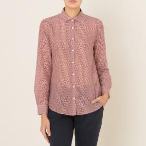 Рубашка женская CORAZON ALCA HARTFORD. Цвет: кирпичный,темно-синий