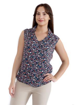 Блузка женская OLBE. Цвет: бежевый, белый, бирюзовый, красный, сиреневый, темно-синий