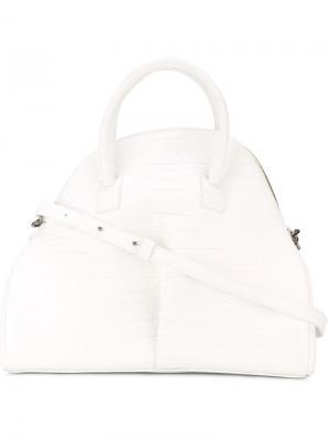 Большая сумка-тоут Marsèll. Цвет: белый