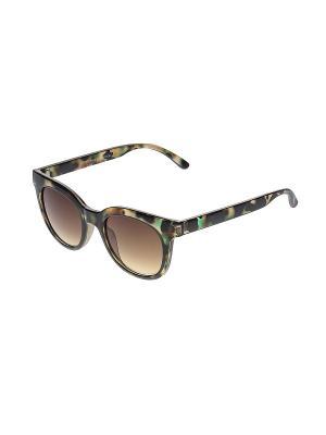 Солнцезащитные очки Happy Charms Family. Цвет: коричневый, бирюзовый