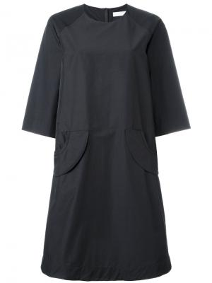Платье с карманами Peter Jensen. Цвет: чёрный