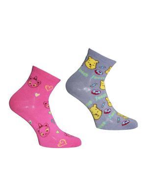 Носки 2 пары Master Socks. Цвет: розовый, серый