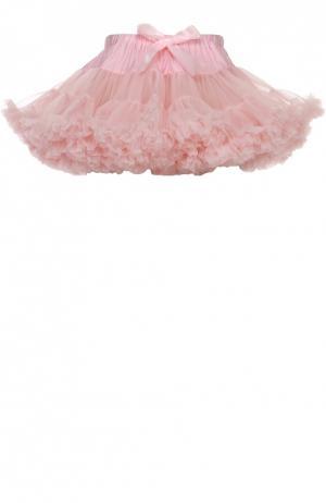 Многоярусная пышная мини-юбка Angel's Face. Цвет: розовый