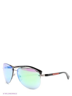 Очки солнцезащитные Prada Linea Rossa. Цвет: зеленый, антрацитовый, черный
