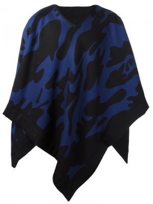 Камуфляжный шарф-накидка Hydrogen. Цвет: чёрный