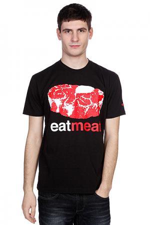 Футболка  Eat Meat Premium Black Enjoi. Цвет: черный