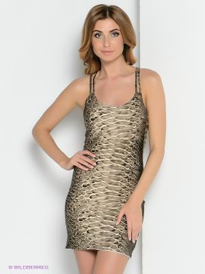 Платье ZAYKINS. Цвет: бежевый