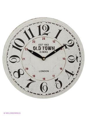 Часы настенныеOLD TOWN Mitya Veselkov. Цвет: молочный, черный