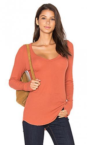 Рубашка с v-образным вырезом otis Michael Lauren. Цвет: тёмно-оранжевый