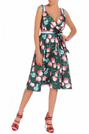 Платье Beatrice. B. Цвет: бело-розово-зеленый, цветы