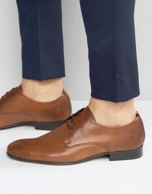 Base London Кожаные туфли-оксфорды Business. Цвет: рыжий