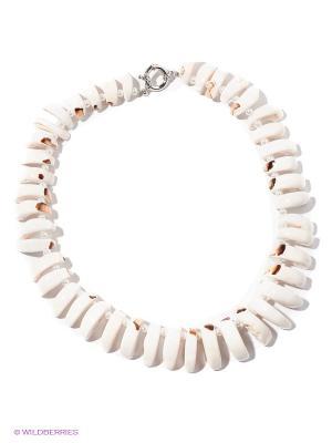 Ожерелье Infiniti. Цвет: молочный, серебристый