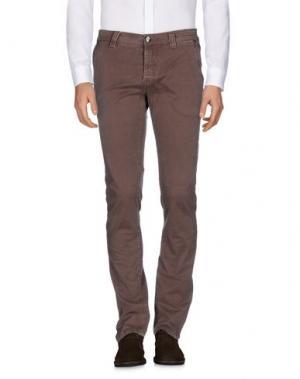 Повседневные брюки NICWAVE. Цвет: темно-коричневый