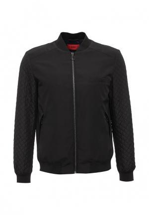 Куртка утепленная Hugo Boss. Цвет: черный