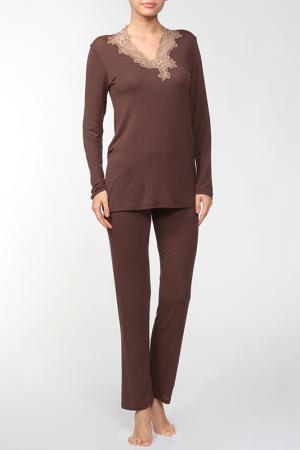 Пижама Exilia. Цвет: коричневый