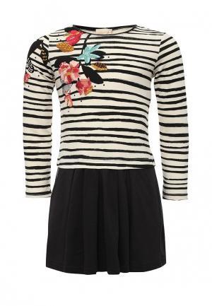 Платье Catimini. Цвет: черно-белый