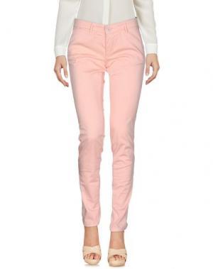 Повседневные брюки 0/ZERO CONSTRUCTION. Цвет: светло-розовый