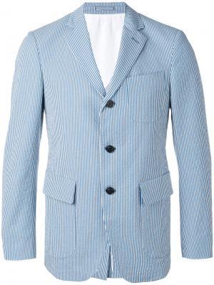 Полосатый пиджак Wooster + Lardini. Цвет: синий