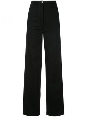 Прямые брюки с завышенной талией Lemaire. Цвет: чёрный