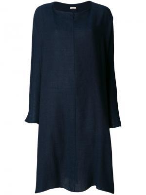 Свободное платье-свитер Apuntob. Цвет: синий