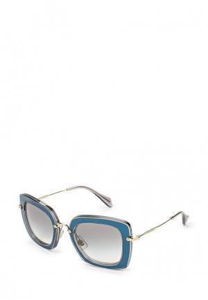 Очки солнцезащитные Miu. Цвет: синий