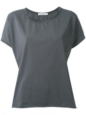 Raw hemmed T-shirt Stefano Mortari. Цвет: серый