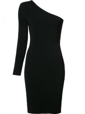 Платье с одним рукавом Elizabeth And James. Цвет: чёрный