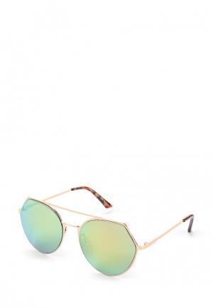 Очки солнцезащитные Pieces. Цвет: золотой