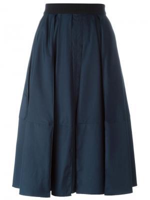 Расклешенная юбка Veronique Leroy. Цвет: синий
