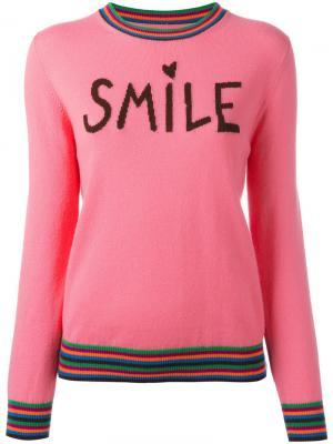 Кашемировый джемпер Smile Chinti And Parker. Цвет: розовый и фиолетовый