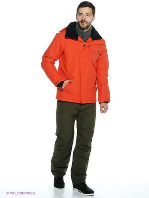 Куртка Quiksilver. Цвет: оранжевый, черный