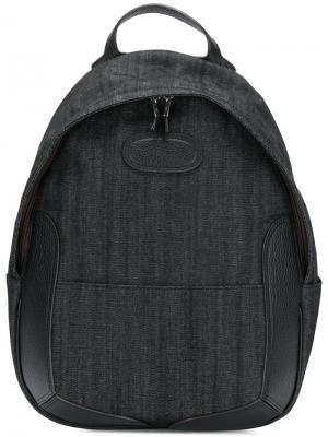 Джинсовый рюкзак с кожаной отделкой Maison Margiela. Цвет: чёрный