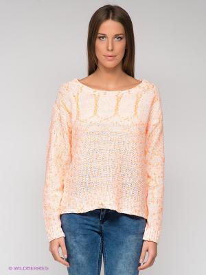 Джемпер ICHI. Цвет: оранжевый, бледно-розовый