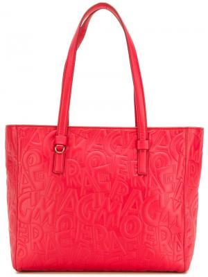 Текстурированная сумка-тоут Salvatore Ferragamo. Цвет: красный