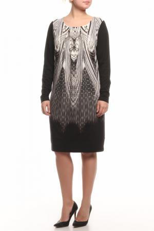 Платье CLASS ROBERTO CAVALLI. Цвет: черный, белый