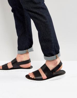 Zign Кожаные сандалии. Цвет: черный
