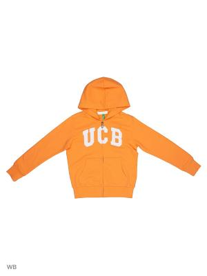 Худи United Colors of Benetton. Цвет: оранжевый