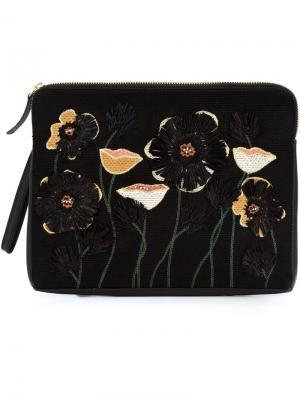 Клатч Raffia Garden Lizzie Fortunato Jewels. Цвет: чёрный