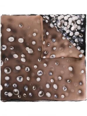 Pearl print scarf Elie Saab. Цвет: чёрный