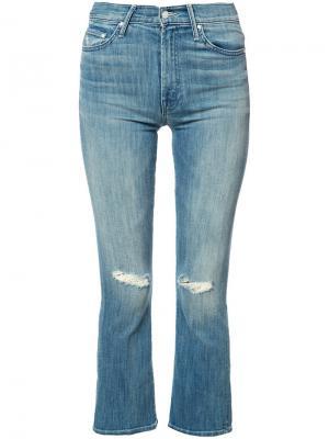 Укороченные джинсы Insider Mother. Цвет: синий