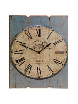 Часы настенные Mitya Veselkov. Цвет: хаки, бледно-розовый, бронзовый