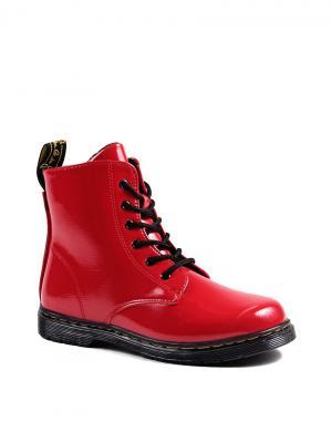 Ботинки Obba. Цвет: красный