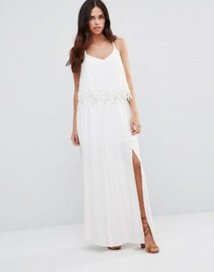 JAPONICA Кружевное платье-халтер. Цвет: белый