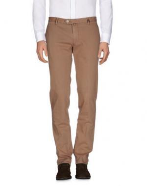 Повседневные брюки GIO ZUBON. Цвет: верблюжий