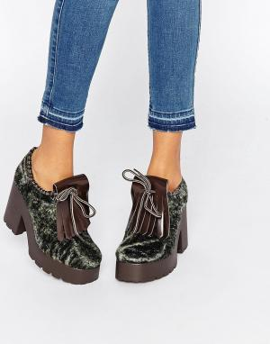 Eeight Туфли на каблуке и платформе Janis. Цвет: зеленый