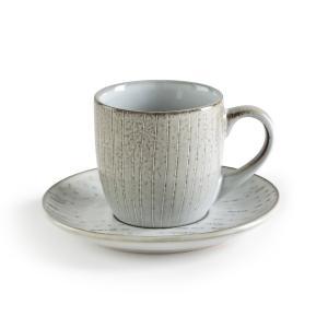 Комплект из 4 чашек и блюдец, Amedras AM.PM.. Цвет: серо-синий