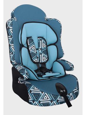 Детское автомобильное кресло ПРАЙМ Isofix коллекция ART SIGER. Цвет: голубой