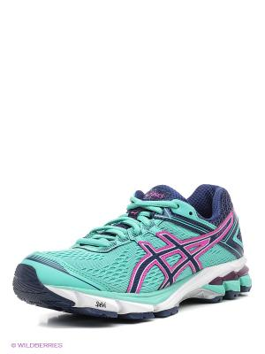 Беговые  кроссовки Gt-1000 4 ASICS. Цвет: зеленый, розовый, синий