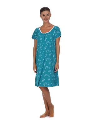 Ночная сорочка Веста.. Цвет: голубой